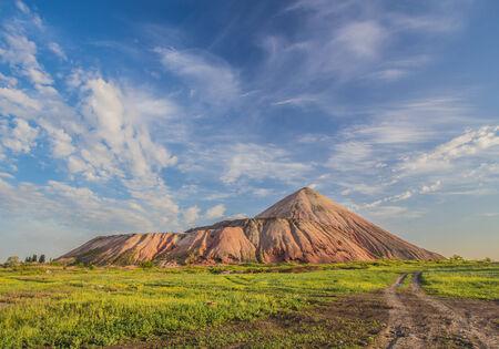 marsh and the black mountains, slagheap landscape photo