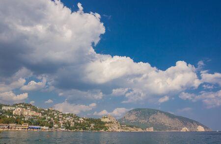 ayu: Gurzuf and Ayu Dag mountain. Crimea. Ukraine Stock Photo