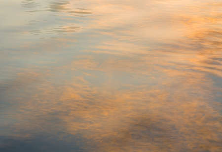 wavelet: picture of the surface water in the sunset time