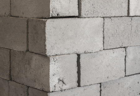 masonary: Gray concrete construction of block industrial Photo