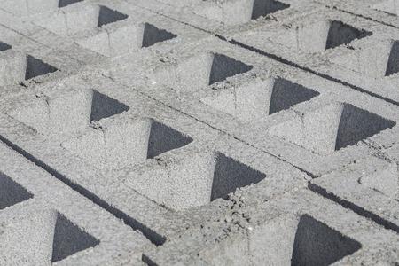masonary: Gray concrete construction of block industrial Photo