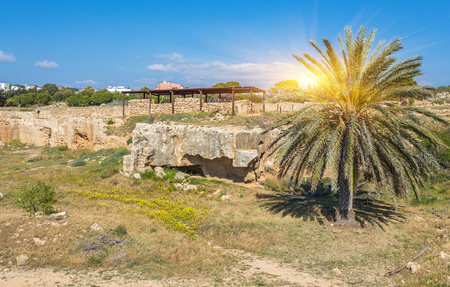tourist site: Tomb of the Kings, Paphos in Cyprus