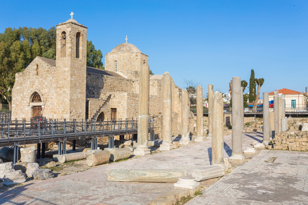 Ruins of the Panagia Chrysopolitissa Basilica in Paphos, Cyprus
