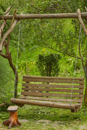 swing in the garden of a private house