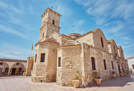 The fromt of the Church of Saint Lazarus, a late-9th century church in Larnaca, Cyprus