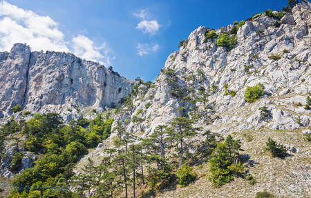 Crimea, Ai-Petri Mountain Range, view from below