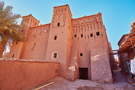 Kasbah Ait Ben Haddou in the Atlas Mountains of Morocco.