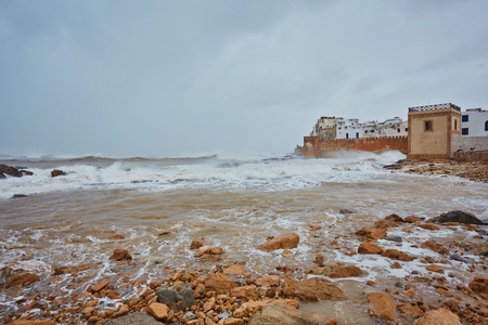 Atlantic ocean front, Essaouira, formerly known as Mogador, Atlantic coast, West Morocco.