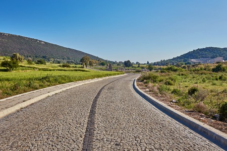 mountain road in Turkey with dangerous curves