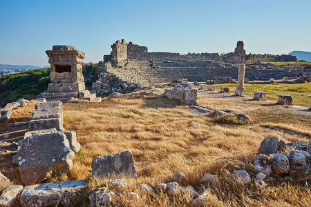 The ancient city of Xanthos - Letoon Xantos, Xhantos, Xanths in Kas, Antalya - Turkey.Became famous by the heroic deeds of its people - not once they burned their city so it did not get to the enemy