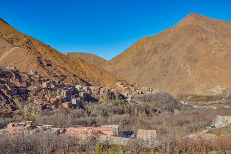 Imlil city in the Atlas Mountains of Morocco
