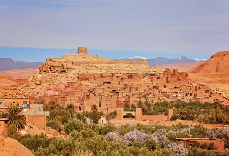 Town of Ait Ben Haddou near Ouarzazate on the edge of the Sahara Desert in Morocco. Standard-Bild - 111479464