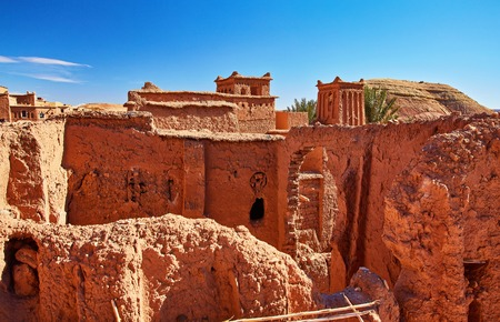 Kasbah Ait Ben Haddou in the Atlas Mountains of Morocco.  Several films have been shot there