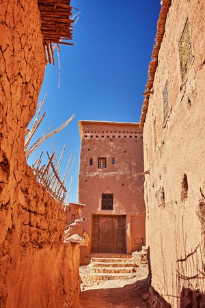 Kasbah Ait Ben Haddou in the Atlas Mountains of Morocco. Several films have been shot there 스톡 콘텐츠