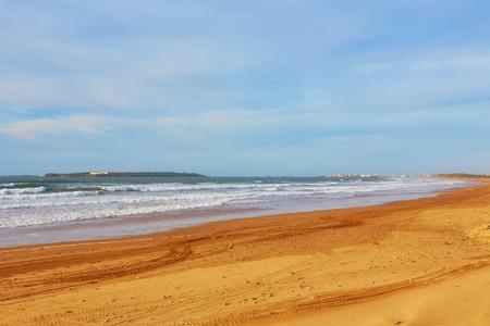Beautiful Atlantic Ocean landscape somewhere between Agadir and Essaouira, Morocco