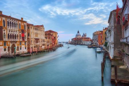 Grand Canal and Basilica Santa Maria della Salute, Venice, Italy Standard-Bild