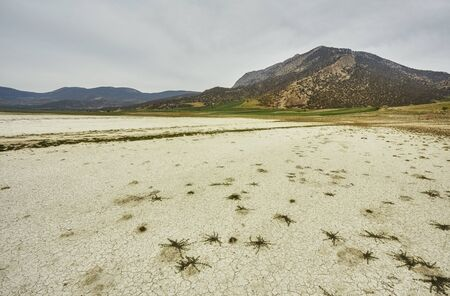 Dry lake and dramatic clouds in Northern Turkey