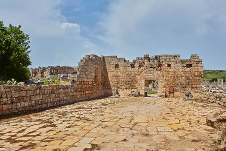 Ruins of the ancient city of Patara, Turkey