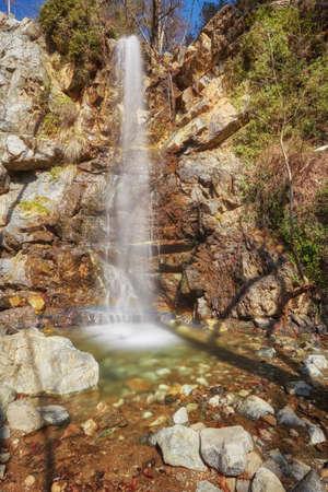 TROODOS MOUNTAIN, CYPRUS.The waterfall of Kalidonia close to Platres village, Troodos mountain, district of Limassol,