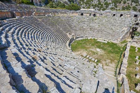 Ancien théâtre gréco-romain de Mira, Demre, Turquie