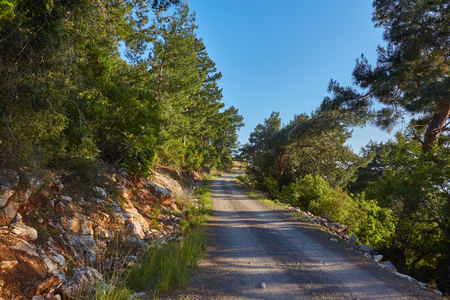 Hiking in famous Lycian Way in the Turkey.