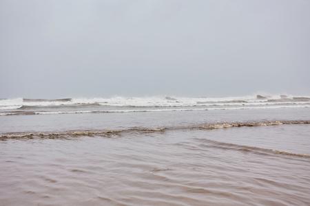 Atlantic ocean in a stormy weather, Essaouira, Morocco