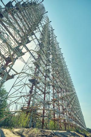 military secret object antenna radar Doug in Chernobyl in Ukraine
