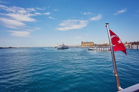 Bosphorus with a old town on a background, Istambul