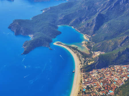 Dead Sea Oludeniz , Situated on Turkey of south-west coast, with it's pristine white beaches and amazingly blue waters, is one of the finest beaches in the world.
