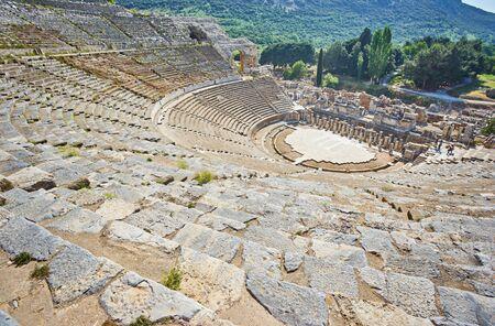 Amphitheatre in the roman ruins of Ephesus, Turkey.