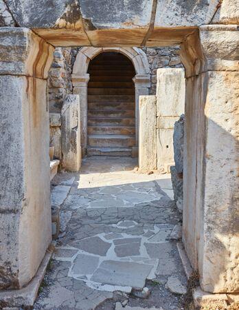 Ancient ruins in Ephesus Turkey - archeology background