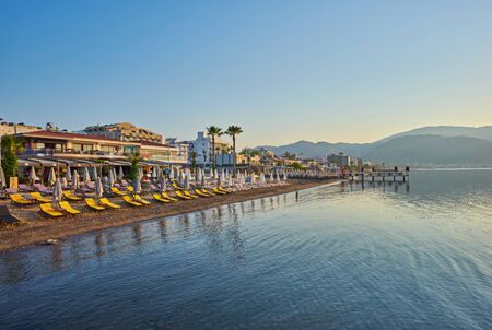 View over the beach of Marmaris in Turkey