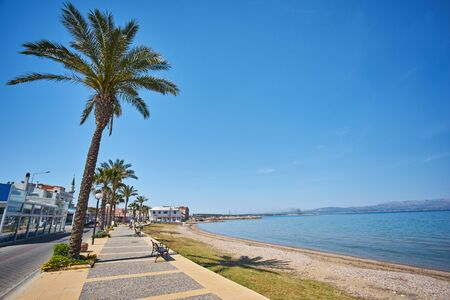 Beautiful Sea View of Cesme which is a coastal town and the administrative centre of the district of the same name in Turkey's western most end, on a promontory on the tip of the peninsula.