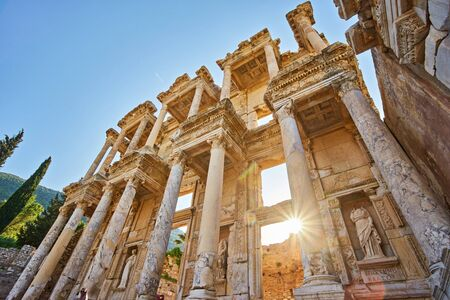 The library of Celsus at the ancient site of Ephesus, Turkey