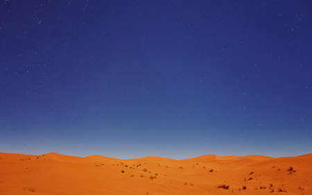Stars at night over the dunes, Sahara Desert, Merzouga, Morocco