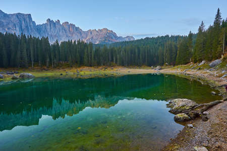 Carezza lake, Val di fassa, Dolomites Alps Italy