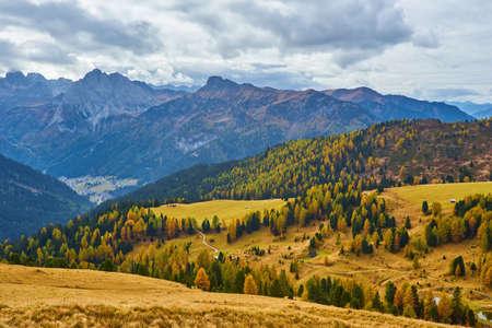 the beautiful Italian Dolomites an autumn day