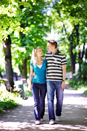 Happy lovers on romantic walk Stock Photo - 10697924