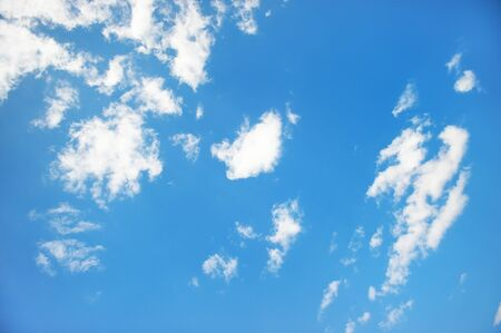 White clouds in the sky Stock Photo - 13692474
