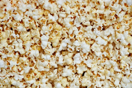 holiday movies: Background of popcorn