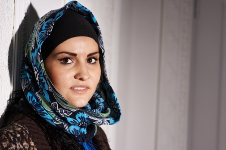 Beautiful Muslim girl headscarf