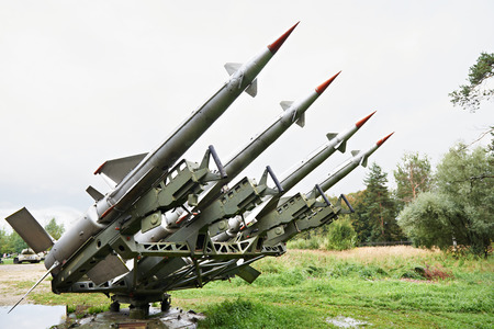 sights of moscow: Russian rockets C-125 Pechora of a surface-to-air missile system Editorial