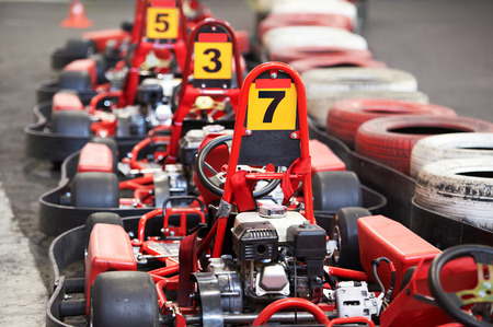 motor race: Machine kart voor de start