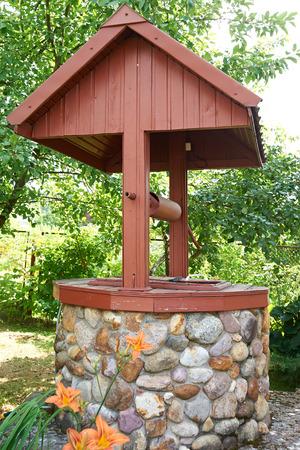 water well: Water well in summer garden