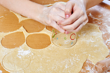 tortillas: Prepare dough round tortillas for cooking meat dumplings