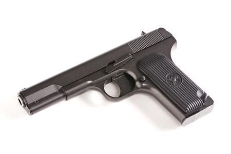 Russian gun TT isolated on a white background closeup Stock fotó