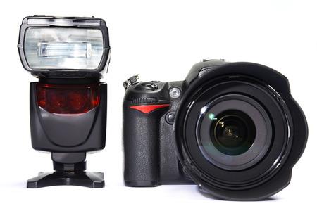 photographs: A set of photographs. DSLR camera, lens and flash