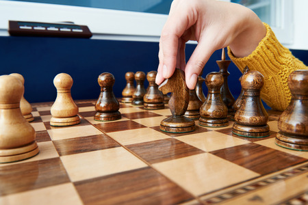 chess move: Maneuver the horse in chess game