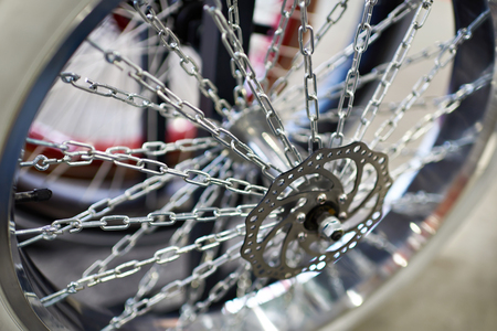 aftermarket: Custom wheel with spokes chains for bicycle in store