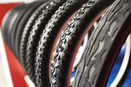 tyre tread: Bicycle tires an assortment of the store
